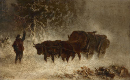 Ox-cart in a Snow Storm