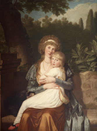 Elizabeth Drummond, Lady Hervey (d.1818) and her Daughter Elizabeth Catherine Caroline Hervey ...
