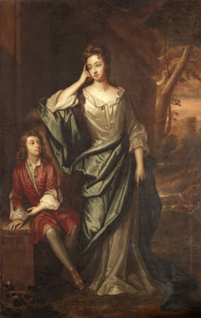 Lady Isabella Bennet, Duchess of Grafton (1667 – 1723) and her Son Charles Fitzroy, 2nd Earl of ...