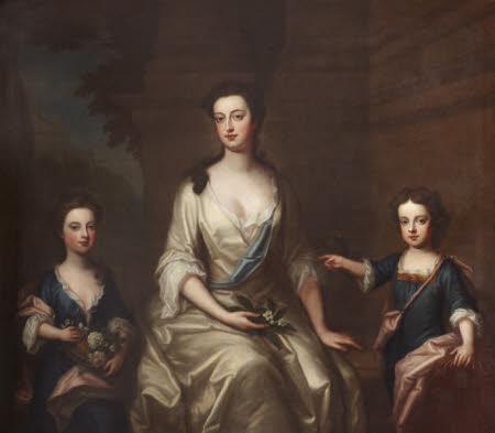 Elizabeth Felton, Countess of Bristol (1676-1741), with her Children Lady Henrietta Hervey ...
