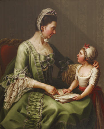 Elizabeth Davers, Countess of Bristol (1730-1800) and her Daughter Lady Louisa Theodosia Hervey, ...