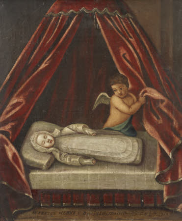 The Infant The Hon. Felton Hervey (3 July 1710–16 July 1710), laid out in death