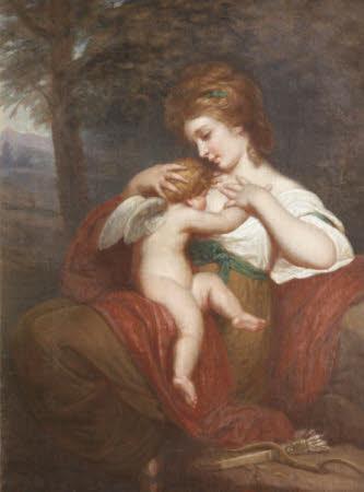 'Hope nursing Love':  Miss Morris (after Sir Joshua Reynolds)