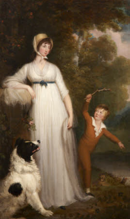 Maria Palmer Acland, Lady Hoare (d.1845) with her son, later Sir Hugh Richard Hoare, 4th Bt ...