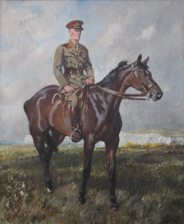 General Jack Seely, 1st Baron Mottistone (1868 – 1947) on his Horse, 'Warrior' (1908 - 1941)