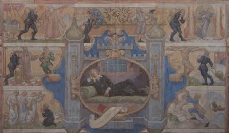 Scene from John Bunyan's The Pilgrim's Progress: 'I dreamed, and behold...'