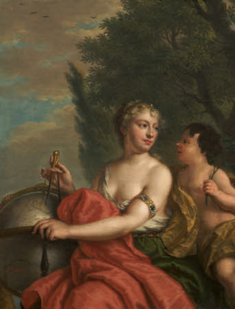 Personification of Astronomy with Cupid