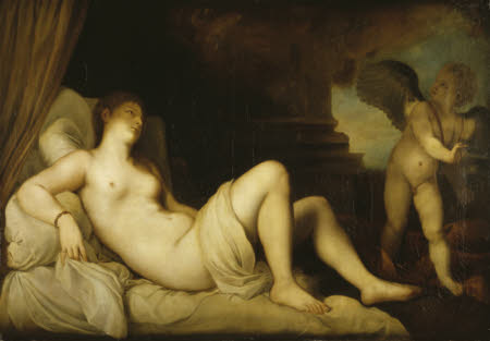 Danaë and Cupid (after Titian)