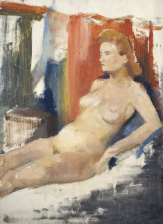 Female Nude, half-reclining
