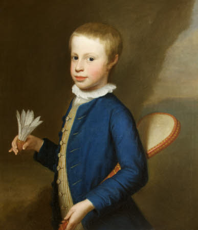 Henry Stawell Bilson Legge, 2nd Lord Stawell (1757 - 1820) as a Boy holding a Shuttlecock and ...