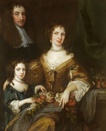 Dr Peter Barwick (1619 - 1705), his wife, Anne Sayon and daughter, Mary, later Lady Ralph Dutton ...