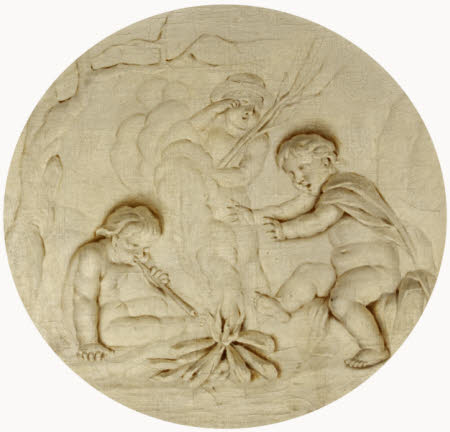 Putti around a Fire: Winter