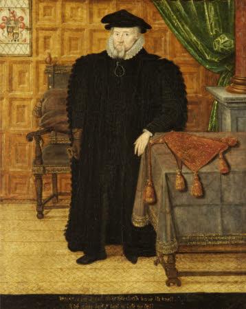 Sir Thomas Egerton, Viscount Brackley (1540?-1617), aged 58