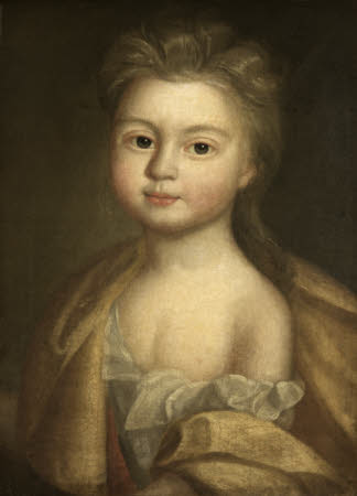 Francisca Elizabeth Brooke, later Mrs Sylvester Richmond (1678 -1770) as a Child