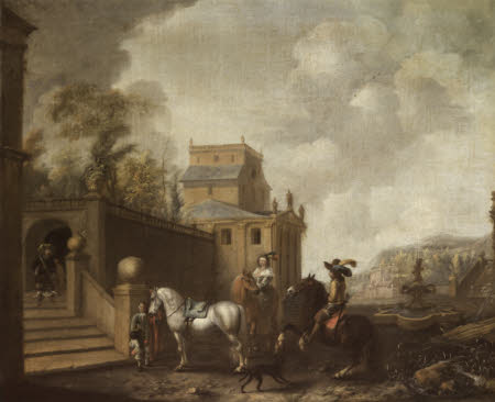 Riders outside a Country House
