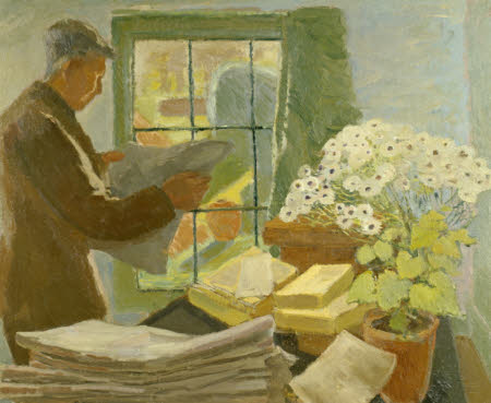 Leonard Sidney Woolf (1880-1969) at a Window in Monk's House
