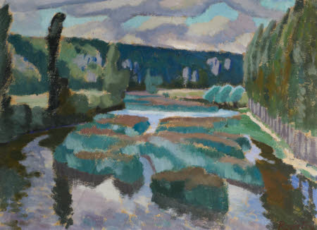 Study for 'River with Poplars' (from the Bridge at Angles sur l'Anglin near Poitiers in France)
