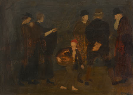 Composition with Two Women, A Boy with Basket and Three Men (one an Old Jew)