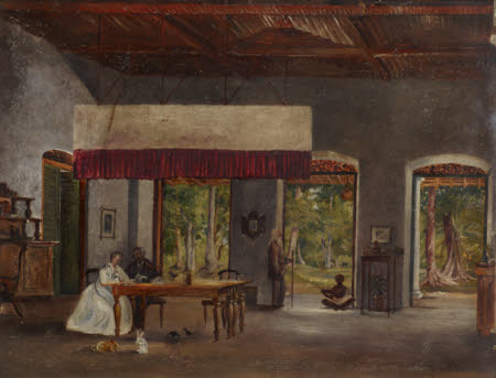 Colonial Interior in Ceylon