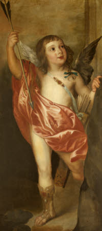 Charles Hamilton, Earl of Arran (1634 - 1640), as Cupid (a fragment copy after Van Dyck)