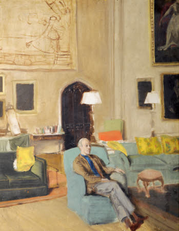 Charles Henry Alexander Paget, 6th Marquess of Anglesey (1885-1947) seated in the Music Room