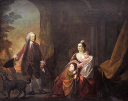 1st Earl of Powis with his Family