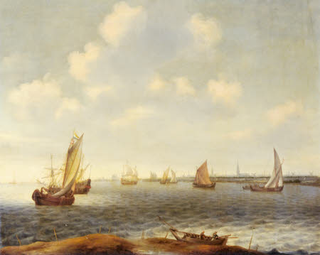 Vessels in an Estuary off Amsterdam