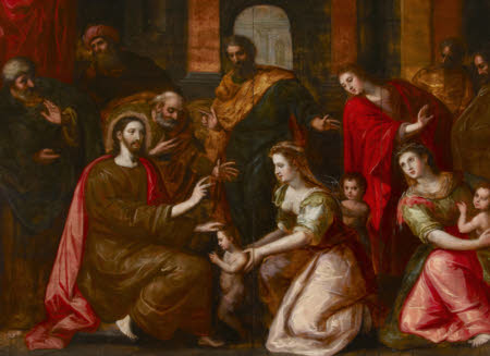 Christ blessing the Little Children ('Sinite Parvulos')
