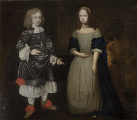 Two Children and an Attendant