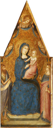 The Madonna and Child enthroned with Four Angels,  Saint John the Baptist and Saint Catherine