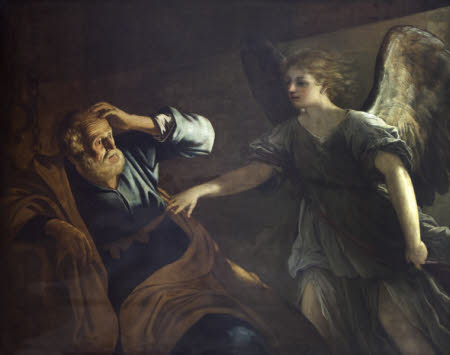 The Angel appearing to Saint Peter (after Honthorst and Reni)