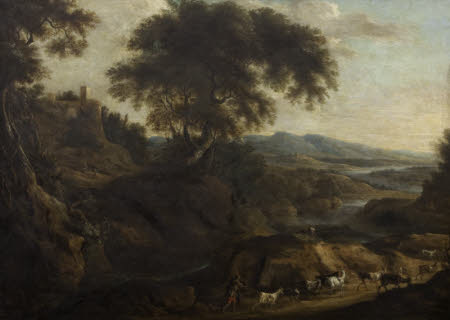 A Landscape with a Herdsman and Goats