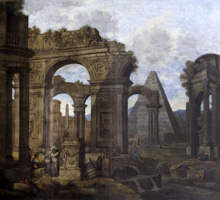 Capriccio of Antique Ruins with a Pyramid