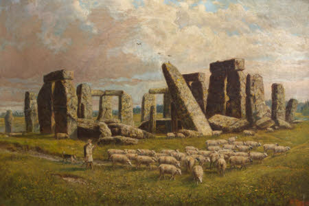 Stonehenge with Sheep