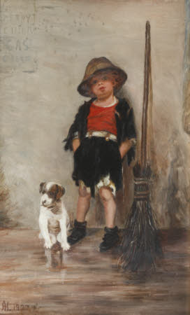A Urchin Crossing-sweeper and his Dog