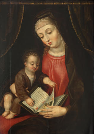 The Virgin and Child with a Book