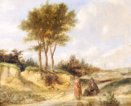 Figures on a Country Road