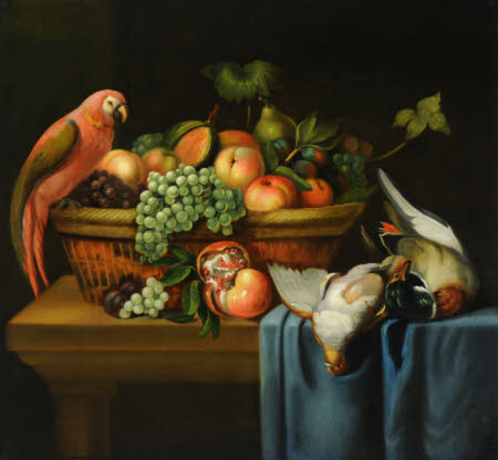 Still Life with a Parrot, Fruit and Dead Birds