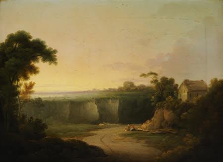 Landscape with a Cottage and an Escarpment