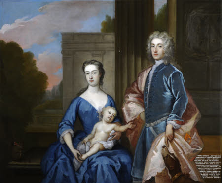 Thomas Hesketh, MP (1698-1735), his wife Martha St Amand, Mrs Thomas Hesketh (d.1782) and a Son