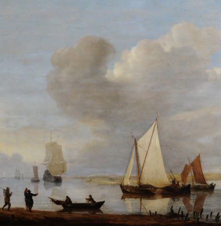 Dutch Shipping moored in an Estuary