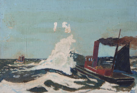 Boats in a Rough Sea