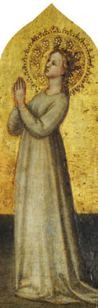 A Crowned Female Saint in Prayer (possibly Saint Elizabeth)