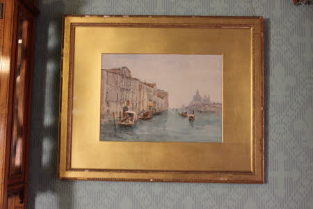 The Grand Canal, looking towards the Salute, Venice