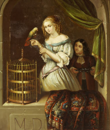 A Girl with a Parrot