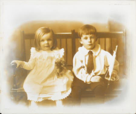 Winifred Margaret Watson-Armstrong (1894-1912) and her brother William John Montagu ...
