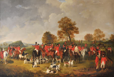 The Cheshire Hunt with Wilbraham Egerton of Tatton (1781-1856) and his son William Tatton Egerton, ...