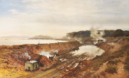 The Excavation of the Manchester Ship Canal: Eastham Cutting with Mount Manisty in the distance