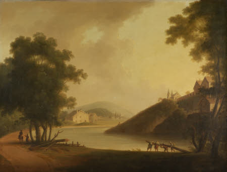 Landscape with Loggers working by a River