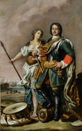 Tsar Peter I, 'Peter the Great', Tsar of Russia (1672-1725), with Minerva
